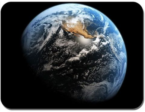 Planet Earth From Space Poster Mouse Mat. Outer Space High Quality Mouse Pad